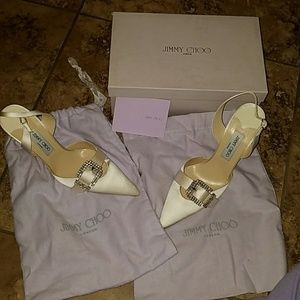 Brand New Jimmy Choo bridal shoe.